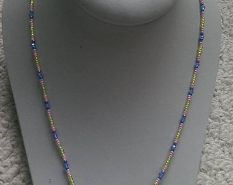 Clear Bicone Crystal Beaded necklace
