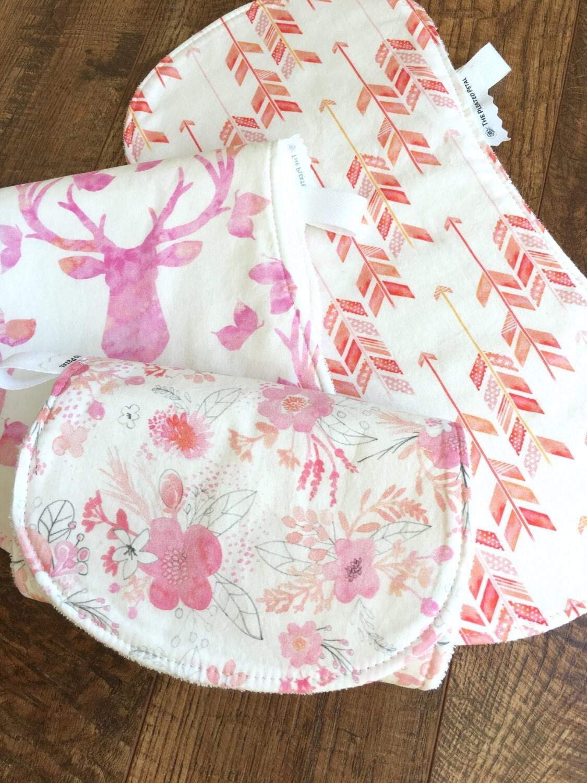 Boho burp cloth Gift for baby Girl Burp Cloth antler Burp