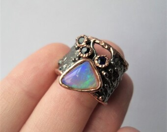 Crystal Opal Ring -WILD and FREE GR.16
