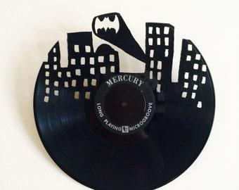 Vinyl Record Batman Gotham  Wall Art