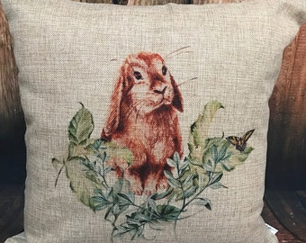 Vintage Rabbit Pillow with insert