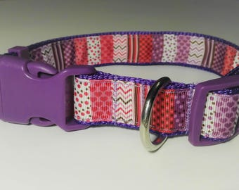 Adjustable Mix Dog Collar - Purple