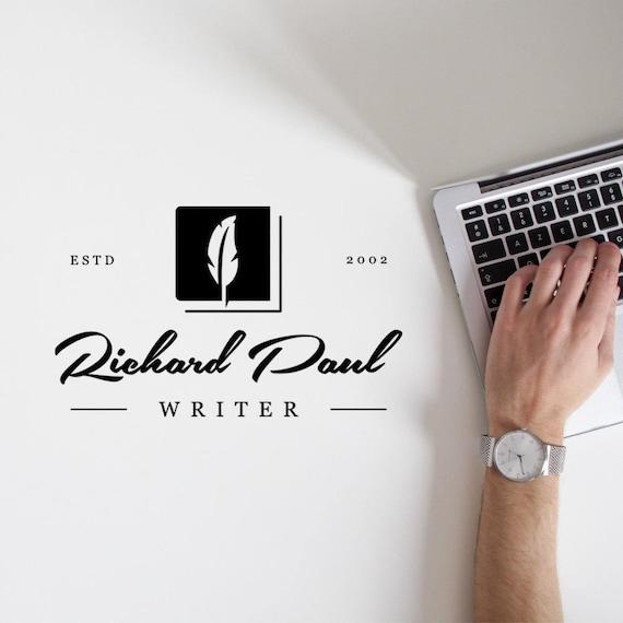 Writer logo, Blog Logo Design, Blog Branding, Classic Logo, Calligraphy Logo, Minimalist Logo, Blogger Logo, Name Logo, Simple Logo, Logo