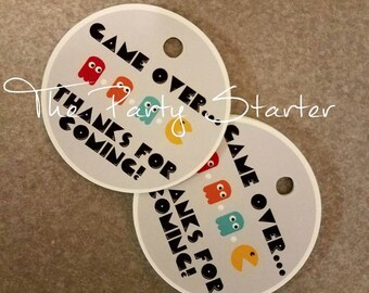 36 Party Favor Tags- 80s Themed