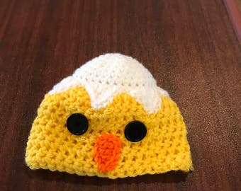 Crochet Chick Hat - Baby Chick Hat - Infant Chick Hat - Newborn Photo Prop - Baby Hat - Infant Hat - Chick Hat - Yellow Hat