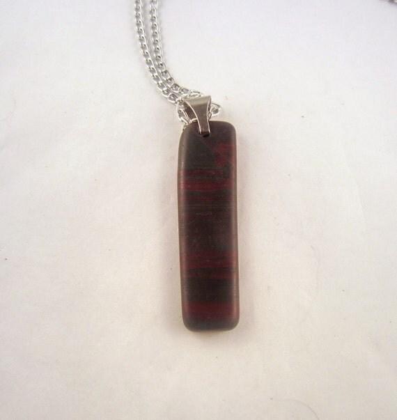 Banded Jasper Pendant Necklace