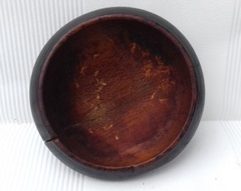 Antique Primitive Hand Carved Wooden Bowl, Cup, Plate.