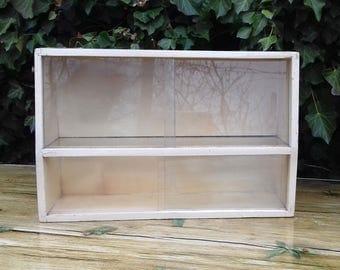 Vintage Rare Wooden Medicine Apothecary Wall Cabinet