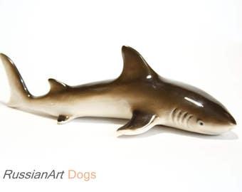 Shark porcelain figurine,  statue