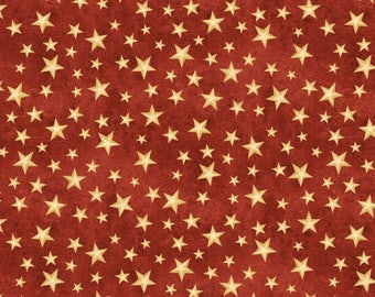 The Way Home Fabric Collection - Red Stars by Jennifer Pugh for Wilmington Prints - Listed by the half yard