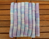 Pastel blue and purple fairy rolags - 2oz