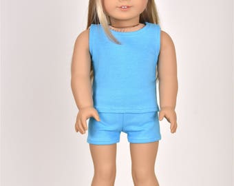 "Combo Set ""Simple Basics"" 18 inch doll clothes Color Sky Blue"
