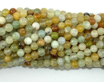 Jade Beads, Round, 4mm (4.5 mm), 15.5 Inch, Full strand, Approx 90 beads, Hole 0.5 mm, A quality (287054031)