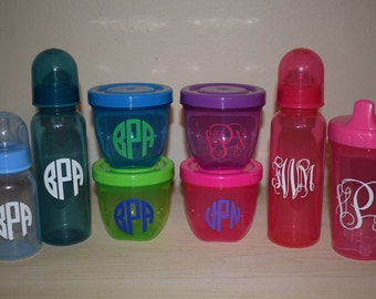 Monogram Baby Bottles, Containers, and Sippy Cups