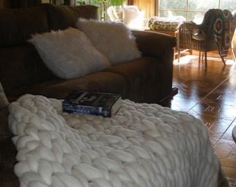 Merino wool blanket end point stitch jersey
