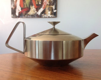 Mid Century Old Hall Alveston teapot - Robert Welch design - 1960s stainless steel