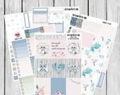 EC Vertical kit, Boho Weekly Kit, Spring Weekly Kit, Weekly Planner Kit, Weekly Planner Stickers, Raccoon Planner Stickers, Raccoon Stickers