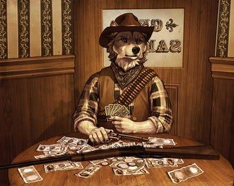 Wild West Wolf - Print