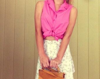 Pink Sleeveless Polo Top