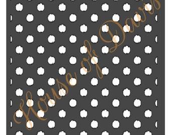 Ikat Polka Dot Stencil - 12x12