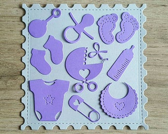 120 Baby Confetti/ Cute Die Cuts / for Baby Shower Party / Table Decor