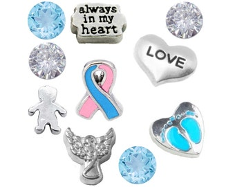 Pregnancy and Infant Loss and Infertility Awareness Charm Set