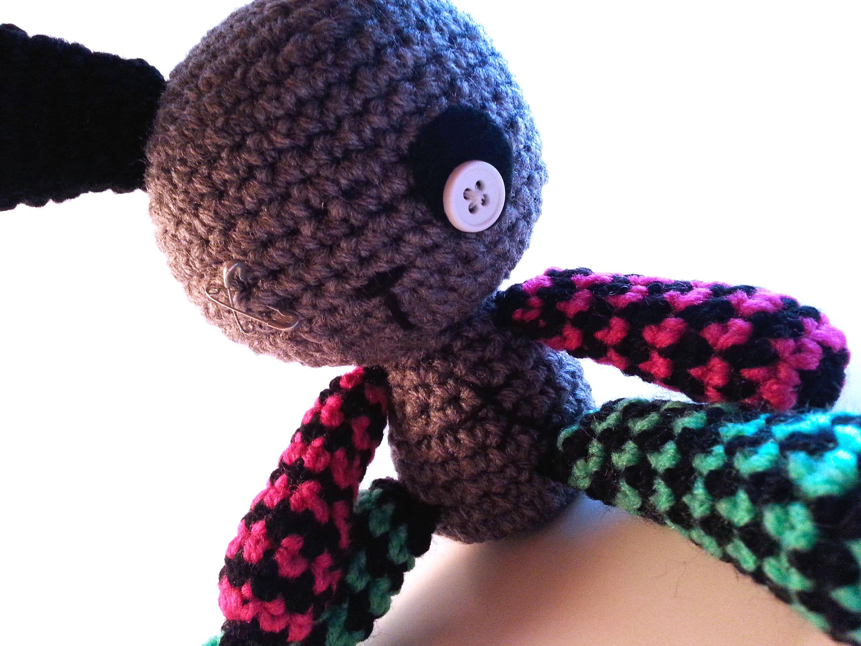 Goth bunny crochet pattern amigurumi punk plush doll digital this is a digital file bankloansurffo Images