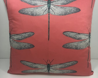 Harlequin Demoiselle cushion cover coral/mint 20""