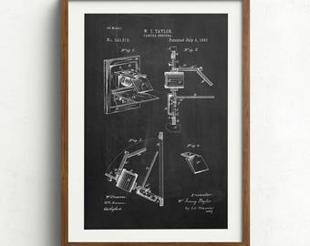 Camera Obscura Patent, Camera Patent Print, Movie Room Decor, Patent Art, Patent Print - DA0770