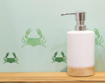 2 x Crab Stencils  - Reuseable Craft, Tile, Home Decor Stencil