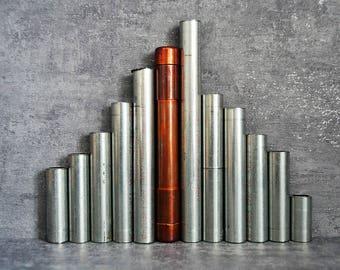 COPPER BOX PEN 1, silver pen, magnetic pen, pen in a pipe, teacher pen, designer pen, writer pen, award pen, scientist pen, coworker pen