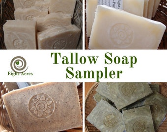 Natural tallow soaps - four soap sampler