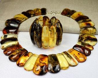 Amber necklace / Amber bracelet / Baltic amber / Genuine Baltic Amber Adult Necklace & Bracelet / Jewelry for Women