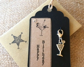 Gift Tag - Happy BIrthday - Clip on Charm