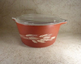 ON SALE 20% OFF! Nice Autumn Harvest on Rust 473-B #39 With Lid-Great!!!