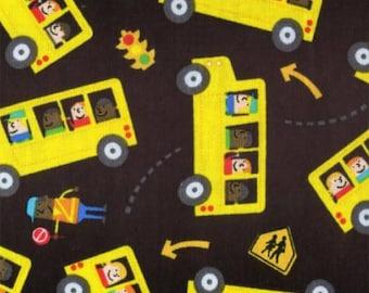 Timeless Treasures - Black School Bus #C4365-BLK