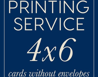 Professional Printing Service Add On | 4x6 Flat Cards