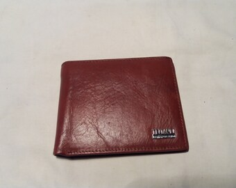Vintage Dark Red Leather Men's Wallet.Brand:TEMANLI - NEW