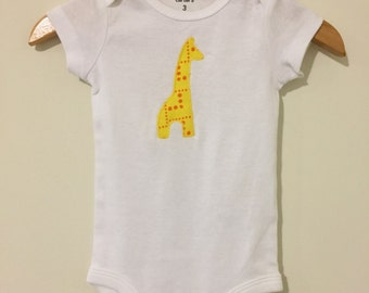 Giraffe Appliquéd Onesie or T Shirt
