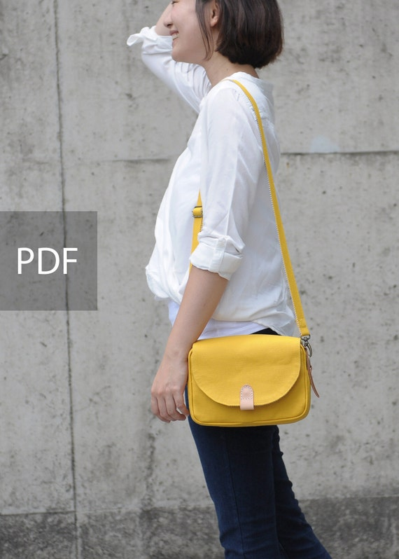 Young Power Canvas Purse Shoulder Bag - Bag PDF Sewing Pattern - with Sewing Tutorials  by niizo (no supplies)