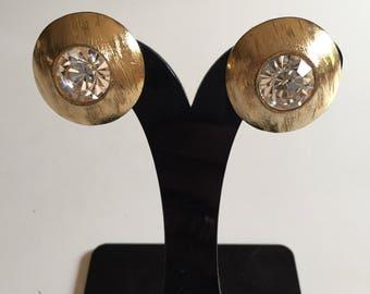 Yves Saint Laurent Ysl earrings crystal crystal earrings
