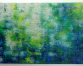Reflection / Acrylic on Gallery Wrapped Canvas / Original Painting / Abstract / Waterscape / 24 x 36 x 1.75 inches