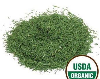 DILL WEED, USDA Certified Organic, Kosher, Irradiation free.  Culinary uses, supplements, teas.