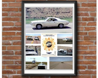Vanishing Point Promotional Poster – Challenger Muscle Car