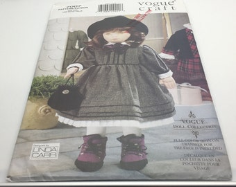 "Vogue Doll Collection 7007 667 Olivia 18 "" Doll Full Color Face Transfer Linda Carr  FF Uncut New"