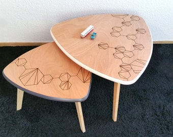 Graphic new nesting coffee tables