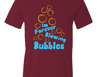 West Ham United FC inspired Im forever Blowing bubbles burgundy t-shirt.