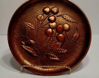 Vintage Syroco Wood Decorative Plate, Decorative wood plate, wood plate