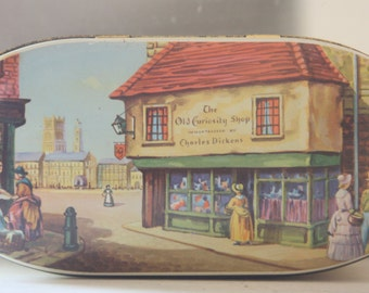 Tin Cookie Jar, Charles Dickens Decor