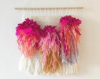 Large tassel colour weaving / fibre art / woven wall art / textile art